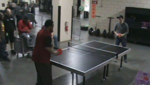 Roger Thomas vs Michael Buble Ping Pong Match