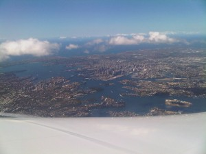 Sydney from over the wing