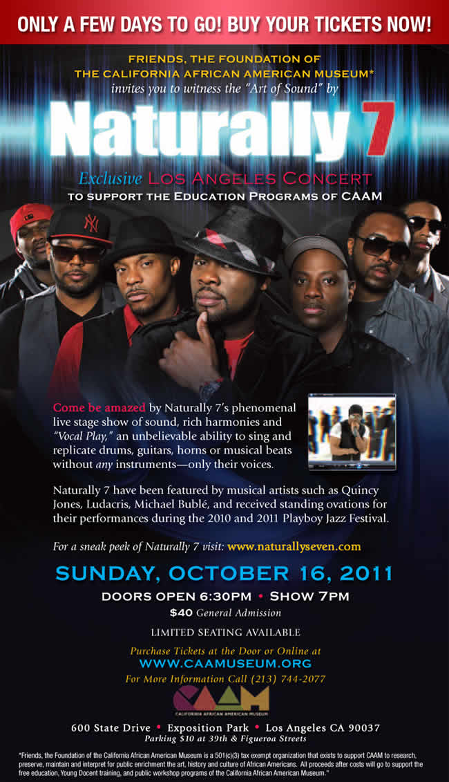 Naturally 7 pays tribute to Herbie Hancock at CAAM in Los Angeles ...