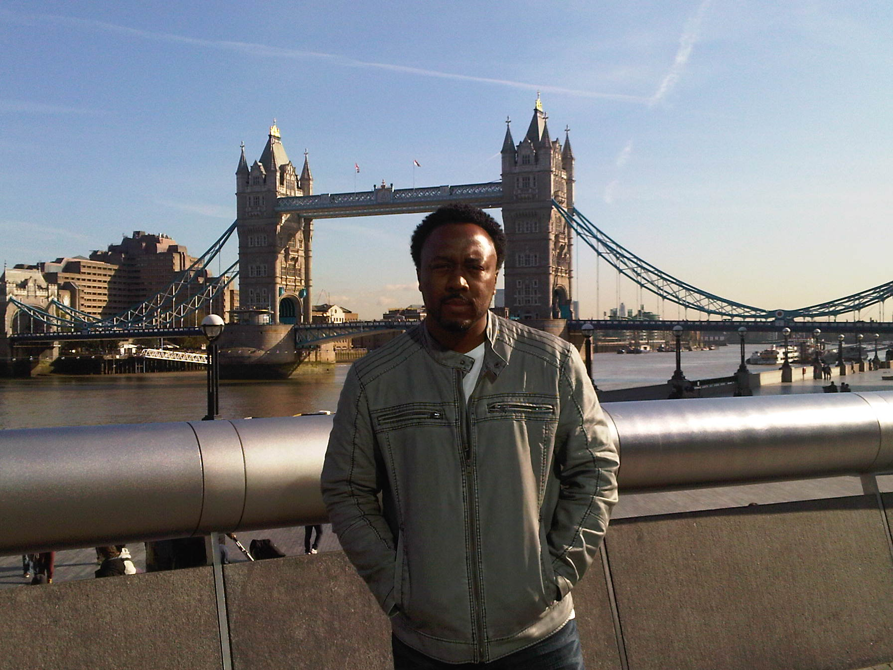 Roger in front of The Tower Bridge
