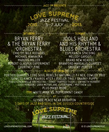 Love Supreme Jazz Festival 2013
