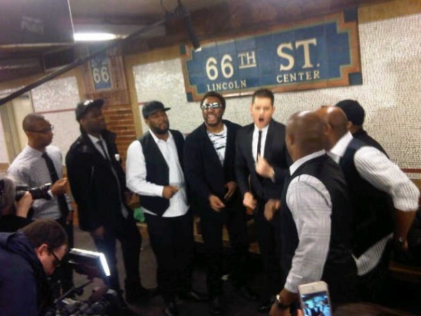 'Who's Lovin' You' with Michael Bublé in the New York City Subway