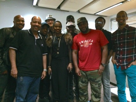 Naturally 7 met Lauryn Hill backstage at the Sydney Opera House after her concert there