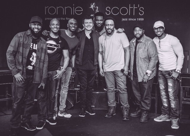 Rick Astley with Naturally 7 at Ronnie Scott's
